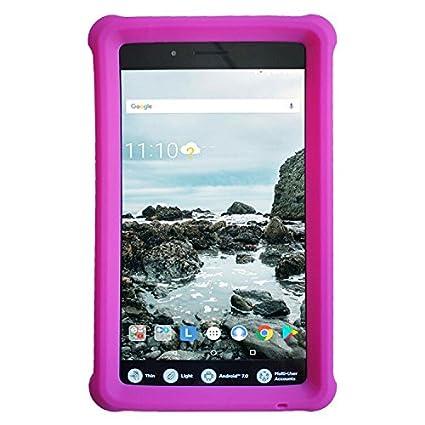 online store 486fa 34bc0 Amazon.com: MingShore Silicone Rugged Case for Lenovo Tab3 Essential ...
