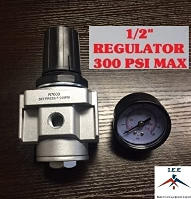 "Air Pressure Regulator for compressor compressed air 1/2"" & free gauge"