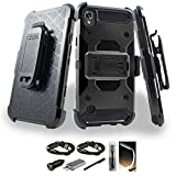 LG X Style / Tribute HD / Volt 3 / LS676 Case, Mstechcorp Armor Holster W/ Kickstand With Accessories