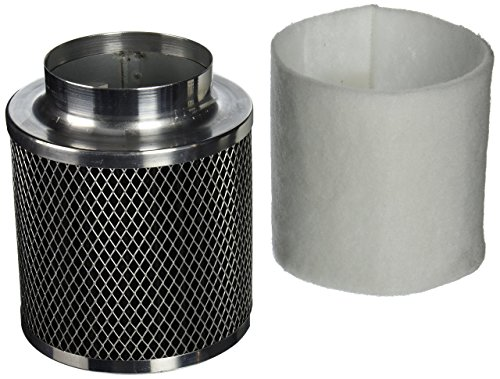 Phresh 701255 Intake Filter, 4-Inch by 6-Inch, 140 CFM (Charcoal Filter Grow Room)