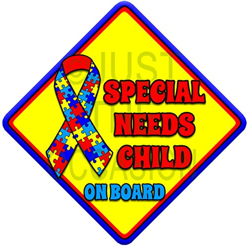 SPECIAL NEEDS CHILD novelty baby on board car window sign Just The Occasion