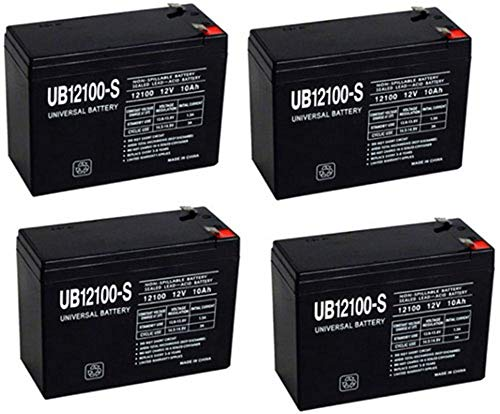Universal Power Group 12V 10AH SEALED LEAD ACID FOR UPG 85968/D5719 SLA BATTERY - 4 PACK
