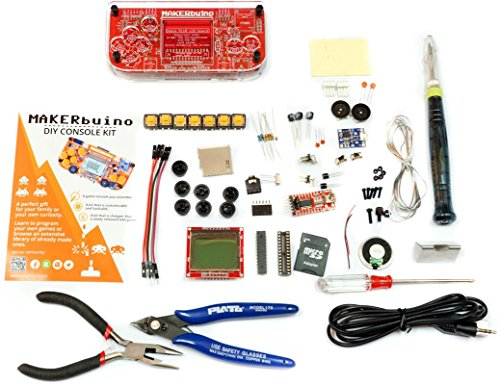 tools - soldering kit - Arduino - DIY retro game console for kids - learn electronics and programming - micro USB - tools included - USB soldering iron ()