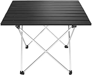 Outry Lightweight Aluminum Folding Table, Portable Camp Table, Outdoor Picnic Camping Backpacking Beach Patio Collapsible Foldable Table