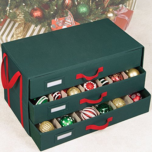 Holiday Compartment Drawer Ornament Organizer