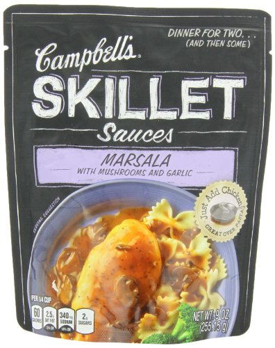 Blended Mushroom Sauce (Campbell's Skillet Sauces, Marsala with Mushrooms and Garlic, 9-Ounce)