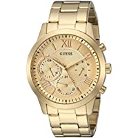 GUESS Women's Stainless Steel Casual Watch, Color: Gold-Tone (Model: U1070L2)