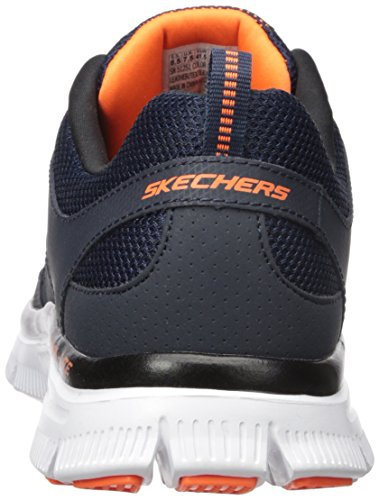 Skechers Flex Advantage, Scarpa Tecnica da Uomo Blu (Navy/Orange)