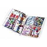Trading Card Game Collectors Album (with A Gift 100pcs Flash Cards), Built-in Clear Protective Sleeve, 30 x 4-Pocket Pages, Holds 240 Cards