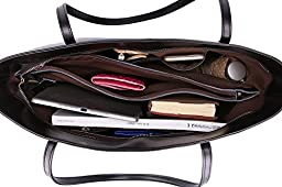 Ilishop Women\'s Brand New Fashion Handbag High-end Genuine Leather Shoulder Bags NB121-black