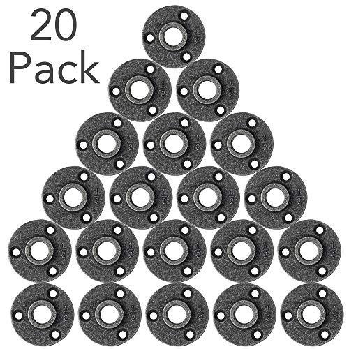 (Brooklyn Pipe Flange - 20 Pack 1/2