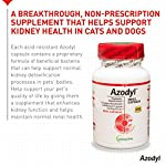 Vetoquinol Azodyl Kidney Health Supplement for Dogs & Cats, 90ct - Probiotic Pet Well-being - Help Support Kidney Function & Manage Renal Toxins - Renal Care Supplement - Easy-to-Swallow Small Caps 9