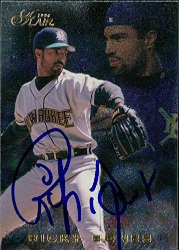 Powers Collectibles Signed Bones, Ricky (Milwaukee Brewer...
