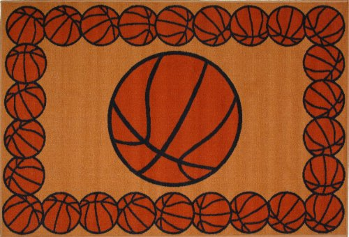 Fun Rugs FT-93 3958 Basketball Time Accent Rug, 39-Inch by - Basketball Fun Time