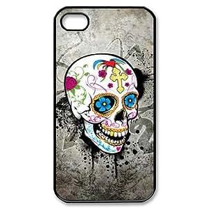 ALICASE Diy Customized hard Case Skull For Iphone 4/4s [Pattern-1]