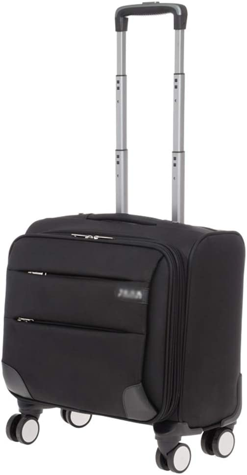 Color : Black, Size : 16 inches Travel Trolley Case Suitcase Spinner Hand Luggage Check-in Hold Luggage Expandable Strong Lightweight Flight Attendant Universal Wheel Oxford Cloth GAOFENG