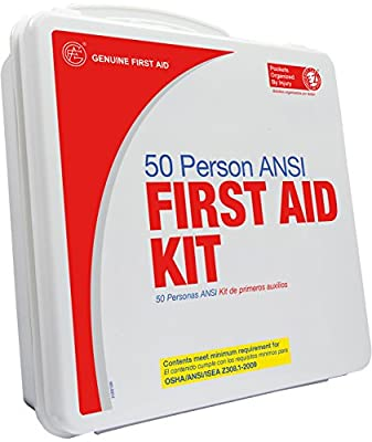 Genuine First Aid 50 Person 2009 Ansi Weatherproof Plastic First Aid Kit, 1.8 Pound by Adventure Medical Kits
