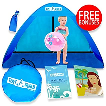 best sneakers 74831 cab8c Baby Beach Pop Up Sun Shade Tent with UV Protection, Travel On The Go  Sunshade Shelter Cabana Canopy for Infant Babies Toddler Boys & Girls.  Portable ...
