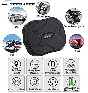 Zeerkeer Rastreador GPS GPS / GSM Satélite Rastreador antirrobo en tiempo real para vehículos automotrices, Localizador GPS impermeable Imán potente y ...