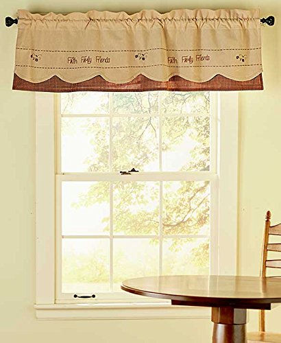 The Lakeside Collection Faith Family Friends Valance