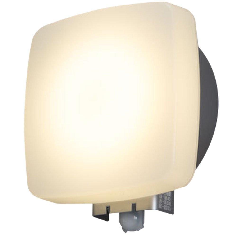 アイリスオーヤマ LEDポーチ灯 人感センサー付き シルバー 電気工事必要 IRBR5L-SQPLS-MSBS-P B06Y6BY938 13252