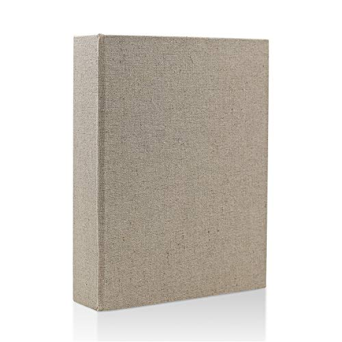 Lvcky Classic Line Photo Album Slip in Hold 120 Pockets 6x4 Inch Picture Anniversary Albums Birthday Memory Book Gift, Linen(Linen )