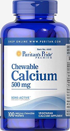 Puritan's Pride Chewable Calcium 500 mg-100 Chewables (Pride Puritans Chewable)