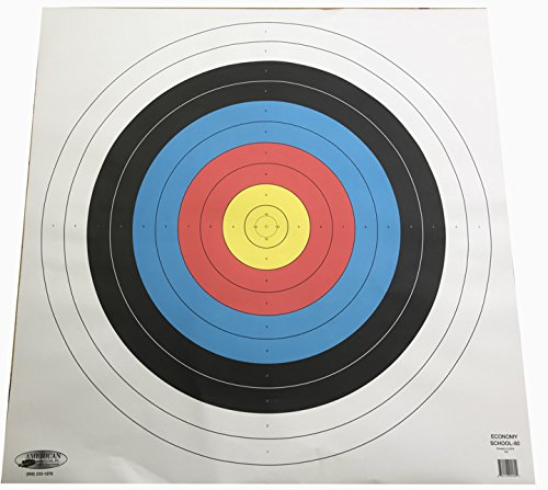 American Whitetail Paper Target Face-School Archery Face, White, 80cm ()