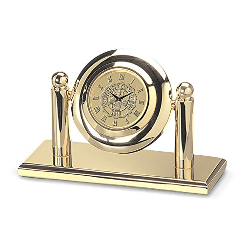 NCAA Virginia Cavaliers Adult Arcade Desk Clock, One Size, Gold