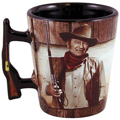 John Wayne Shot Glass with Rifle Handle