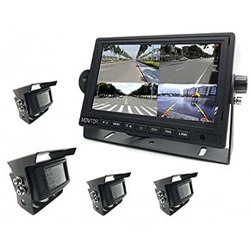"""Zesfor Kit 4 Camaras de vigilancia WiFi + Pantalla 7"""" (360 View) -"""