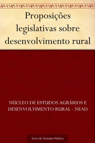 Proposições legislativas sobre desenvolvimento rural