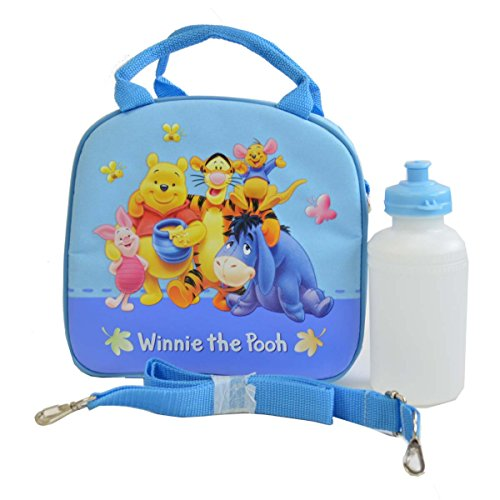 - Officially Licensed Disney Zipper Lunch Box With Water Bottle and Adjustable Strap - Piglet, Pooh, Tigger, Roo, and Eeyore by Mirage
