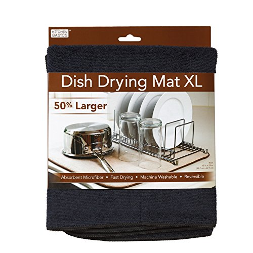 Mat Dish (Kitchen Basics 554301 Dish Drying Mat XL Black)