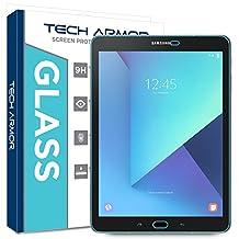 "Galaxy Tab S3 9.7"" Glass Screen Protector, Tech Armor Premium Ballistic Glass Samsung Galaxy Tab S3 9.7"" (2017) Screen Protectors [1]"