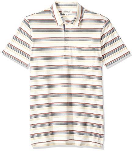 Gradient Stripe - Goodthreads Men's Short-Sleeve Sueded Jersey Polo, Ivory Gradient Stripe, XX-Large Tall