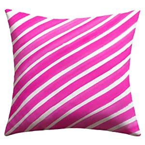 """Negar diseños Rebecca Allen """"bastante en rayas rosa"""" al aire libre manta almohada, 26by 26"""