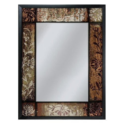 Head West Plum Patchwork Mirror, 25-Inch by 33-Inch