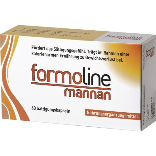 (Formoline Mannan, Capsules, 60 Pieces, Food Supplement with the Natural Dietary Fiber Glucomannan From the Konjac Plant)