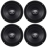 (4) Rockville RM64PRO 6.5'' 4-Ohm SPL Competition Grade Midrange Car Speakers Totaling 800 Watt Peak/400 Watt RMS with 1.5'' High Temperature Voice Coil and a Huge 90 Oz Magnet Structure