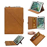 Vacio iPad Pro12.9 2017/2015 Version Smart Case Cover-Flip Case with Stand/Lightweight Cover Luxury Multifunction Business PU Leather Case, for iPad Pro(A1670、A1671、A1584、A1652)-Yellow