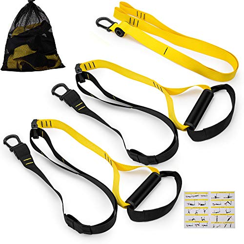 HYMNL Bodyweight Resistance Straps Kit,Professional Gym Workouts for Indoor, Travel, and Outdoor.