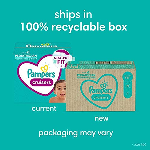 Diapers Size 3, 174 Count - Pampers Cruisers 3 (174 Count)