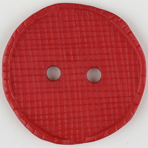 Modeknopf - Größe: 32mm - Farbe: rot