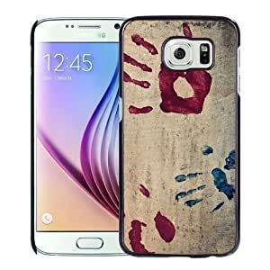 NEW Unique Custom Designed Samsung Galaxy S6 Phone Case With Handprints_Black Phone Case