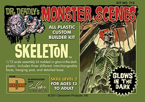 Dr. Deadlys Monster Scenes Skeleton Glow in the Dark 1/13 Dencomm from Dencomm