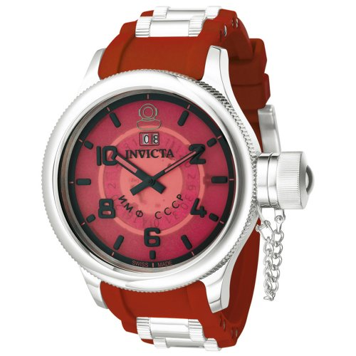 Invicta Men's 4341 Russian Diver Collection Red Watch ()