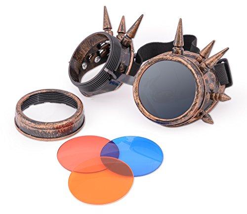 Spikes Copper hombre para sol morefaz Gafas de 7qwawH0