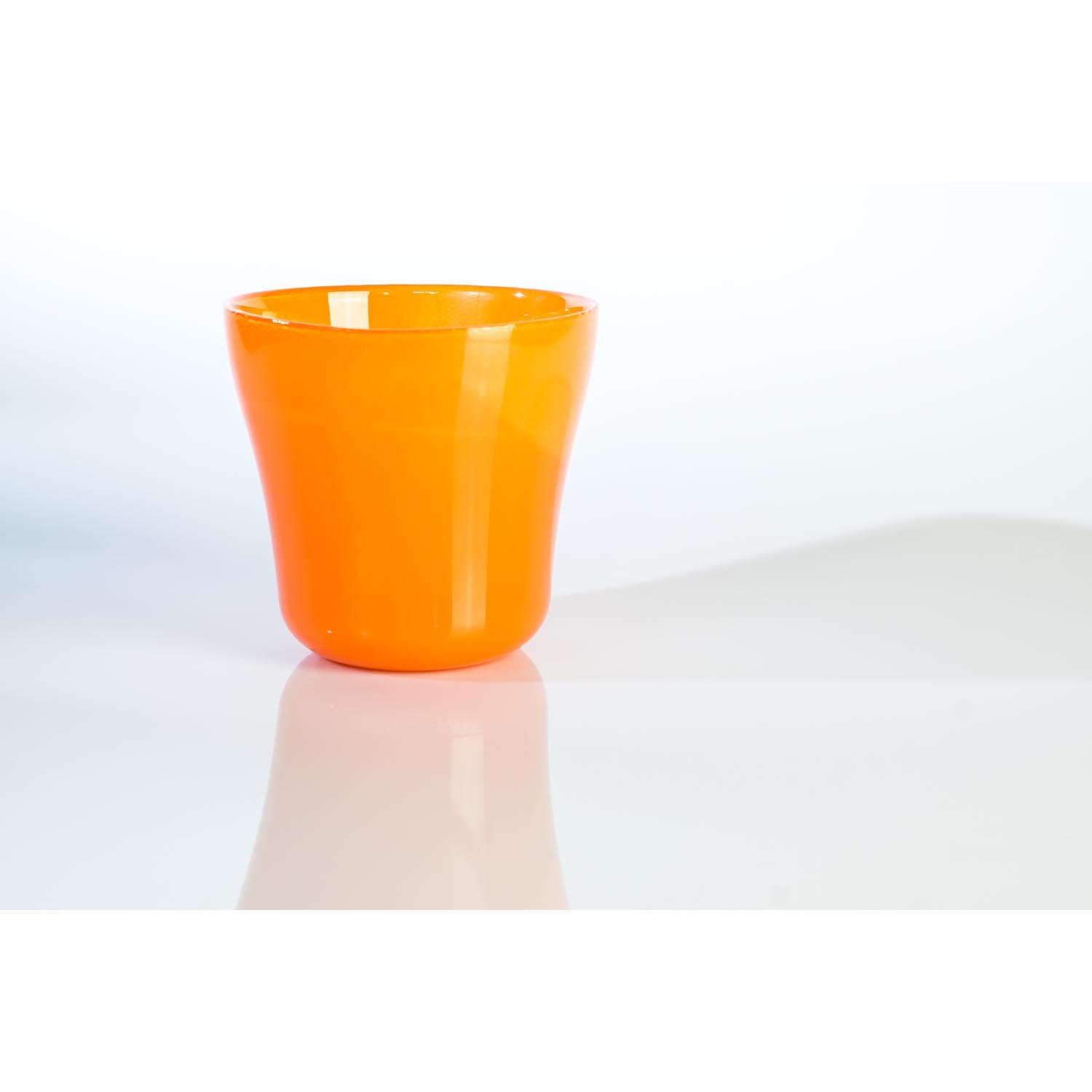 small flower pot plant container jacob in glass orange 4 92