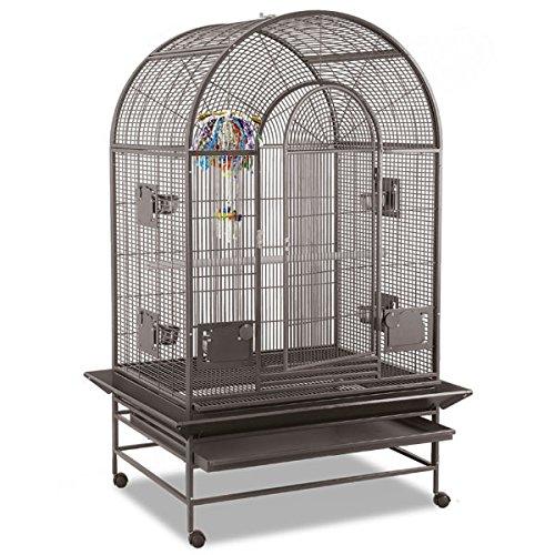 Montana Cages | Vogelkäfig, Sittichkäfig, Käfig für Finken, Kanarien und Sittiche MIAMI Voliere in Hammerschlag antik